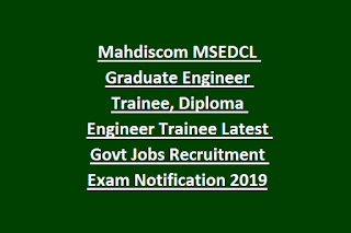 Mahdiscom MSEDCL Graduate Engineer Trainee, Diploma Engineer Trainee Latest Govt Jobs Recruitment Exam Notification 2019