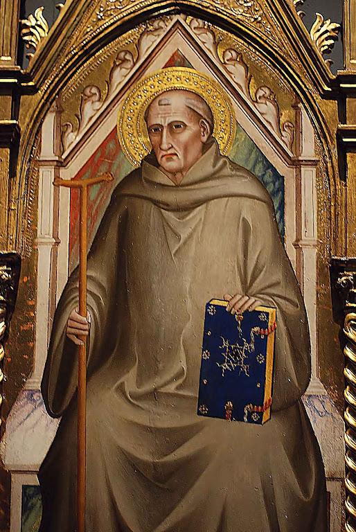 São João Gualberto. Giovanni del Biondo (ativo 1356-1399), Basílica de Santa Croce, Florença.