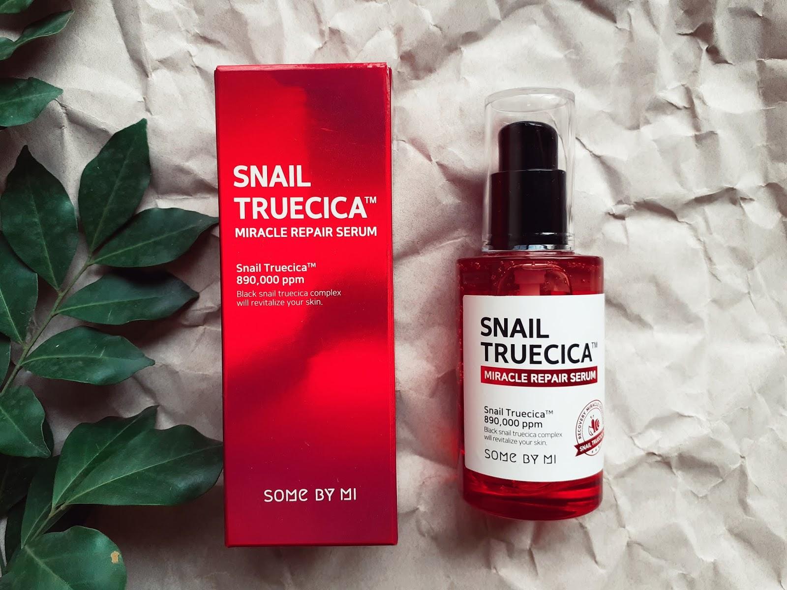 Tinh chất trị sẹo lõm Some By Mi Snail Truecica Miracle Repair Serum 50ml - sẹo ốc sên