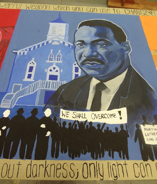 oregon muralist, civil rights mural, educational mural