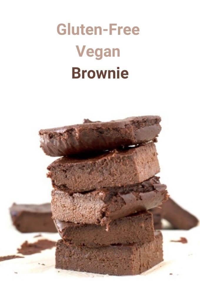 Gluten-Free Vegan Brownie | danceofstoves.com #glutenfree #vegan #brownie