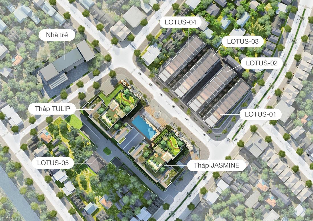 Quy mô tổng thể dự án Goldsilk Residence