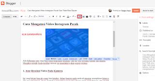 cara menghapus link gambar di blog