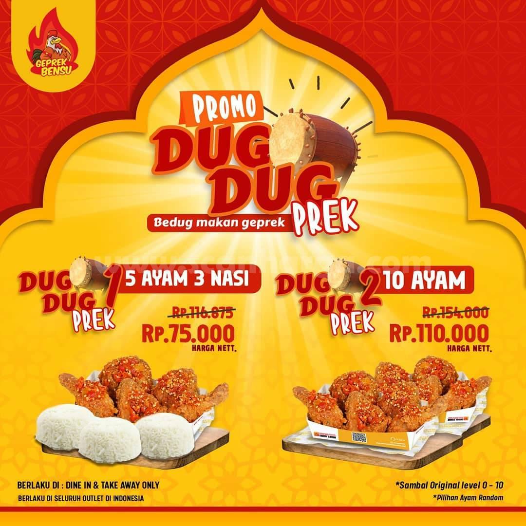 GEPREK BENSU Promo Ramadhan – Paket DUG DUG PREK mulai 75K