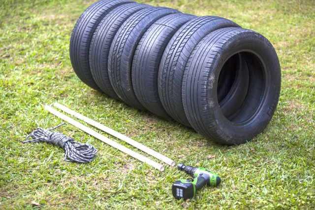 DIY Punching Bag Tires & Parts