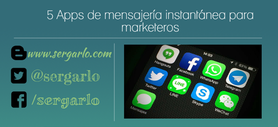 Apps, Marketeros, marketing, Mensajería Instantánea,