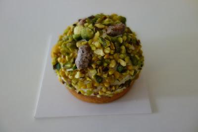 Tarte pistache de Yann Couvreur, blog Délices à Paris.