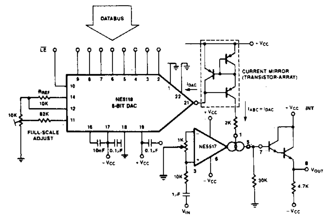 Sensor Circuit Diagram Moreover 741 Op Parator As Well Arduino The Consists Of Three Functional Blocks Tthe Ne5118 Which Generates A Control Current Equivalent To Applied Data Byte Mirror