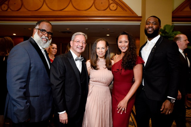 Brian Scruggs, Marc DeSouza, Marilyn Scruggs, Amber Staples and NFL free agent Justin Staples. Image credit GIRF.