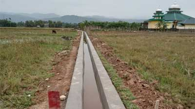 Pembangunan Drainase Kelompok P3A Kampung Tebing Tinggi Rampung