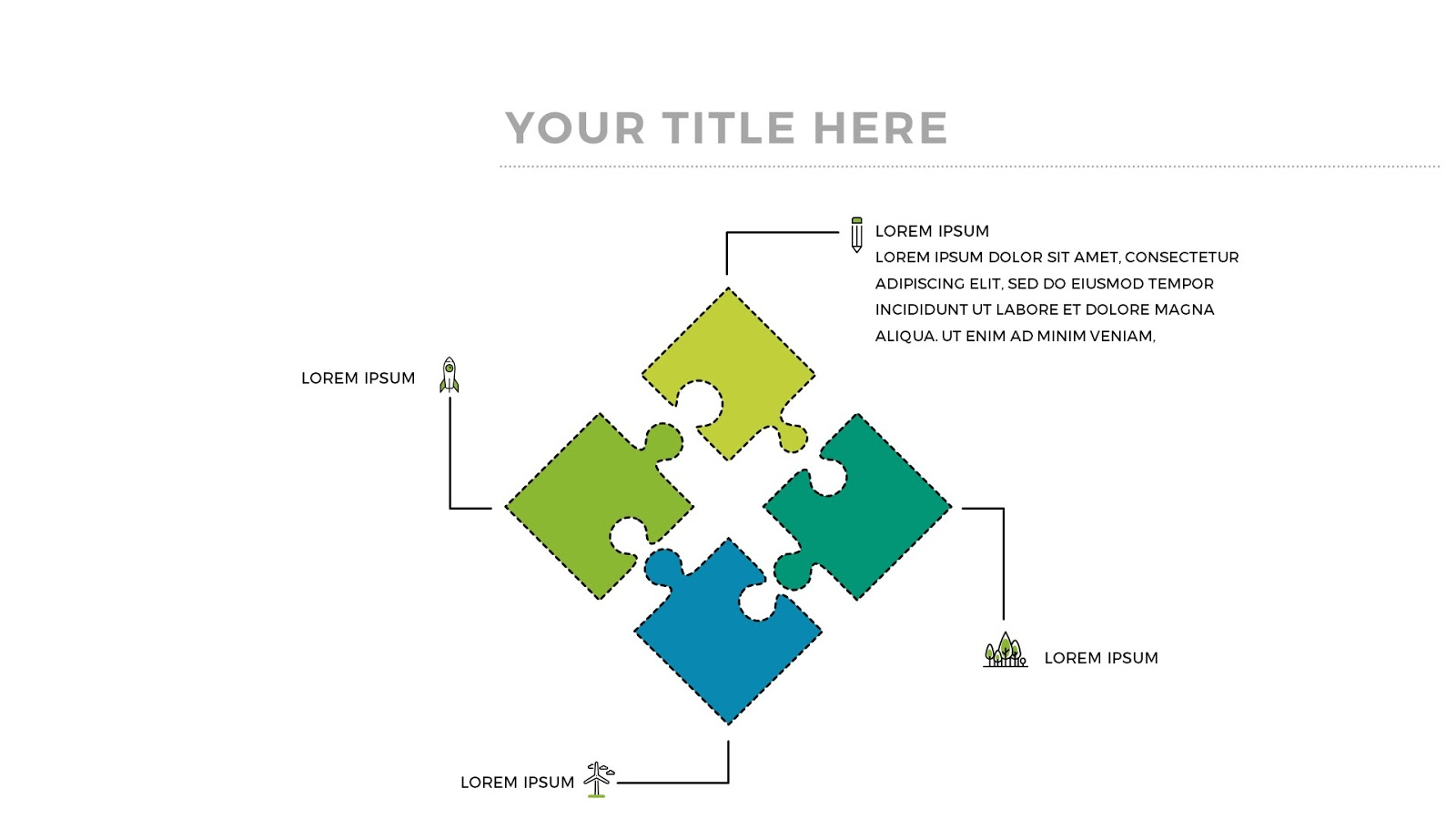 85+ 4 Piece Puzzle Template - Create Puzzle Pieces In PowerPoint ...