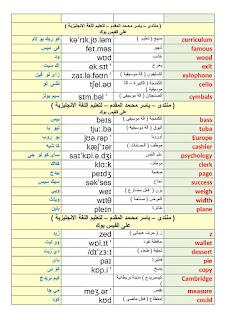 بالصور والشرح كلمات إنجليزية تقرأها بطريقة خاطئة ، تعلم النطق الصحيح لها