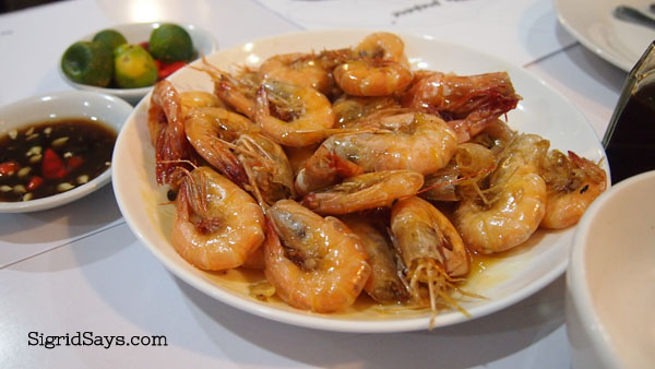 Buttered shrimps at Hyksos Pala-pala - Bacolod restaurant