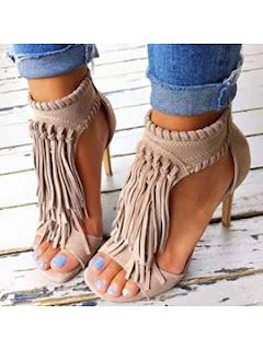 fringe heels