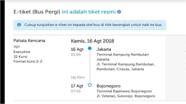 Cara Naik Bus Antar Provinsi Jakarta - Bojonegoro Dengan Traveloka
