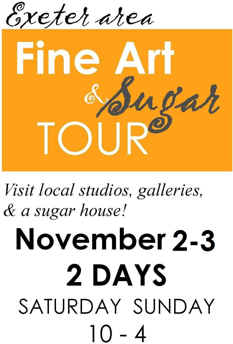 EVENT: FINE ART & SUGAR TOUR. 12 LOCATIONS!