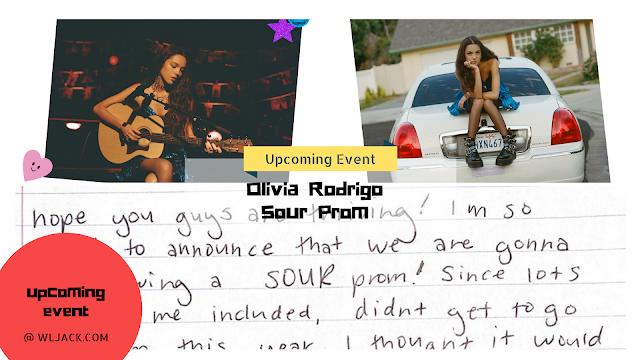 [Upcoming Event] Olivia Rodrigo Sour Prom