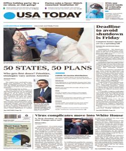 USA Today Magazine 8 December 2020 | USA Today News | Free PDF Download