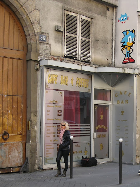 New Wave Of Invasions by Space Invader in Paris, France with Peter Pan and Sonic The Hedgehog. 3
