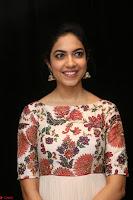 Ritu Varma smiling face Cream Anarkali dress at launch of OPPO New Selfie Camera F3 ~  Exclusive 011.JPG
