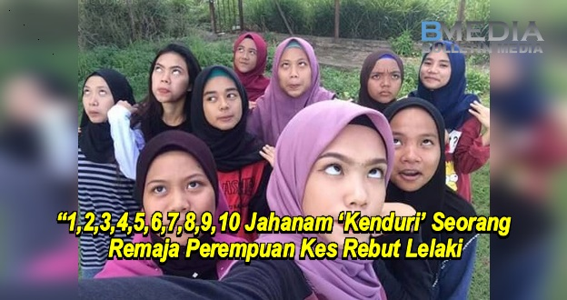 10 Jahanam 'Kenduri' Seorang Remaja Perempuan Kes Rebut Lelaki (Video)