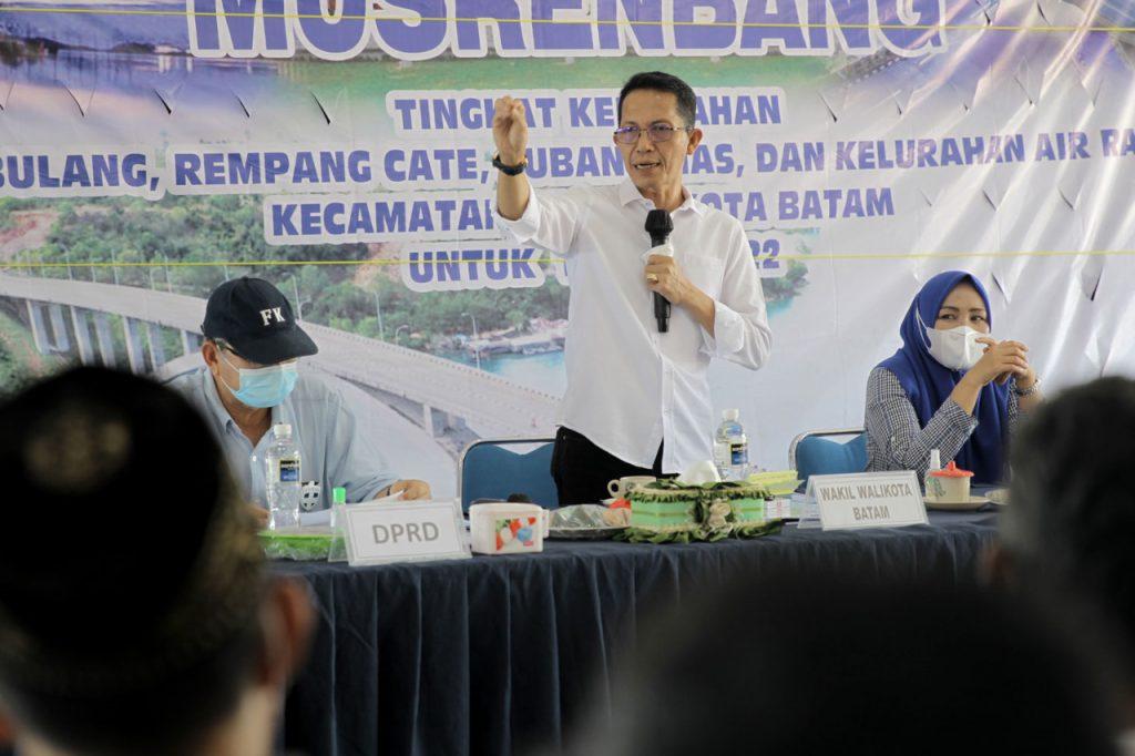 Wakil Walikota Batam Menghadiri Musrenbang Tingkat Kelurahan Pulau Abang