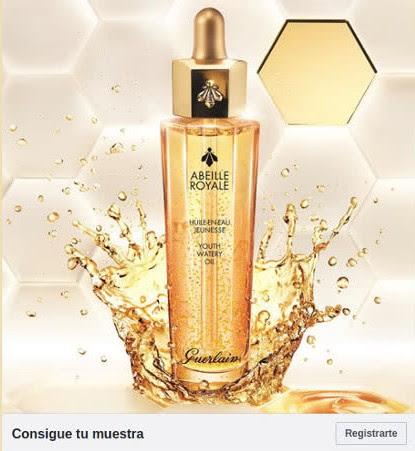 muestras gratis aceite serum Abeille Royale Guerlain