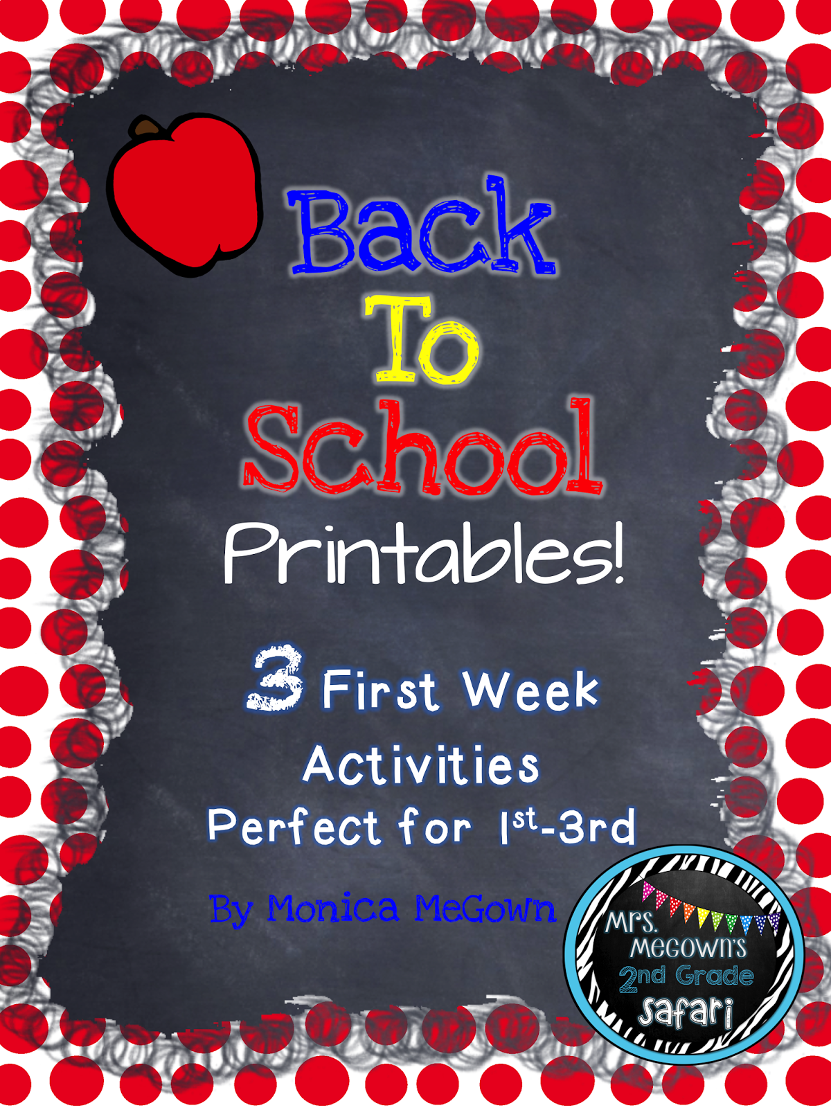 Mrs Megown S Second Grade Safari Back To School Printables Yes It S Almost Time