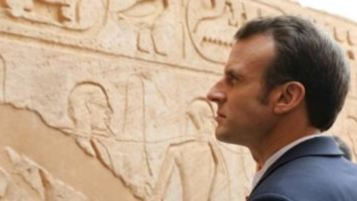 ننشر صورا جديدة من زيارة الرئيس الفرنسى إلى معبد أبوسمبل