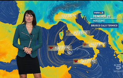 cartina temperature oggi Italia foto