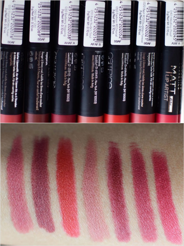 die Edelfabrik, Review, Catrice Matt Lip Artist, Swatch