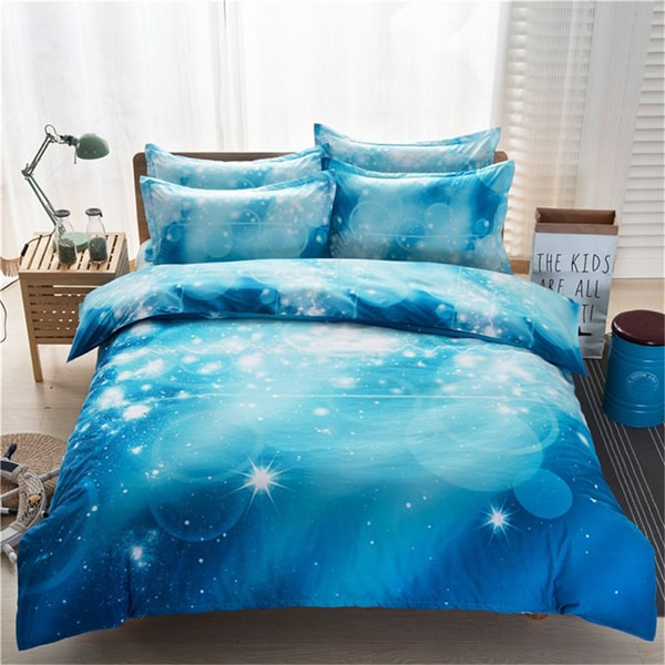 Starry Sky Pattern Bedding Set Quilt Cover Bed Sheet Pillowslips