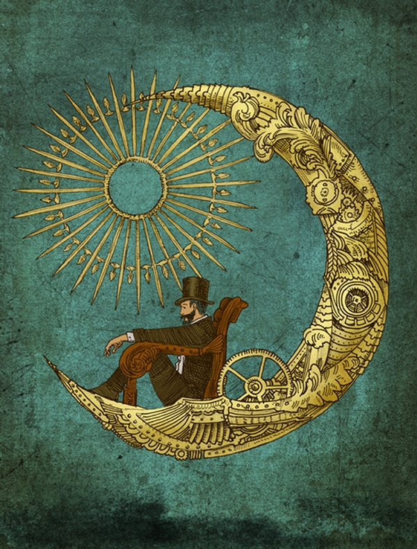 01-Moon-Travel-Eric-Fan-Illustration-of-Fantasy-Characters-in-Surreal-Worlds-www-designstack-co