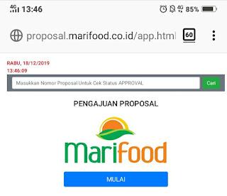 Pengajuan proposal event ke PT Marimas Marifood