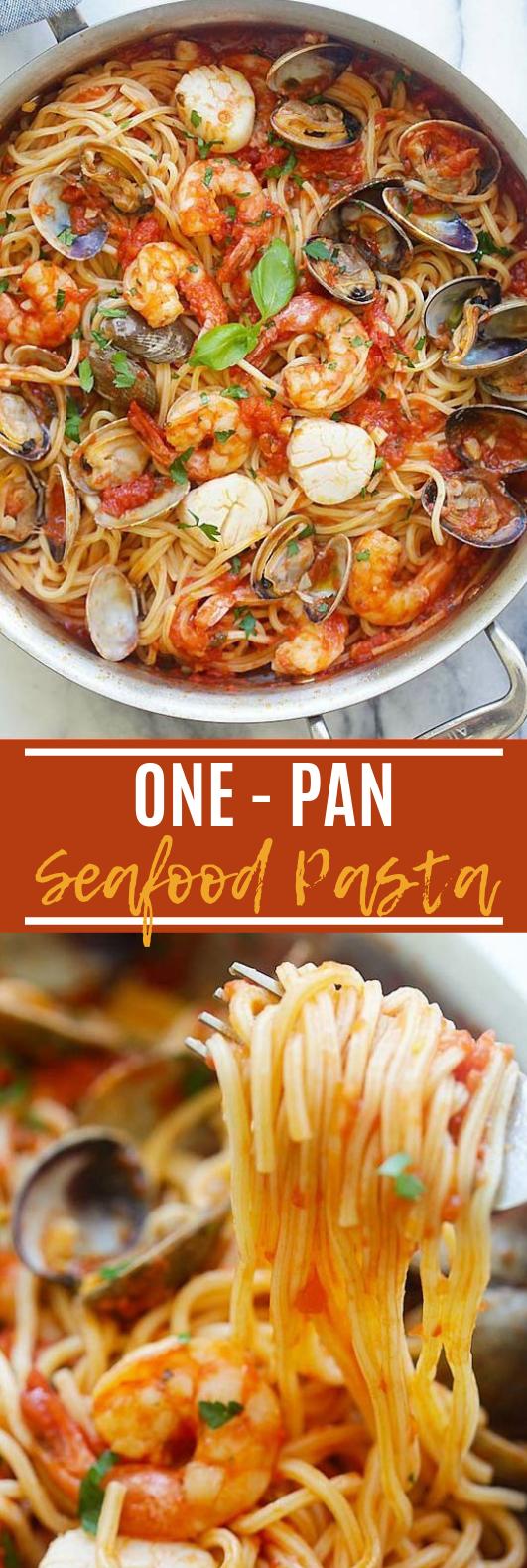 Seafood Pasta #pasta #dinner
