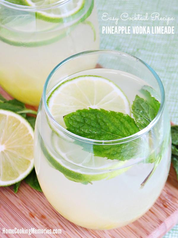 Pineapple Vodka Limeade Recipe #drink #water #limeade #pineapple #vodka