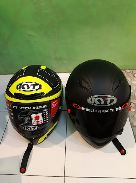 Review Helm KYT TT Course Full Face