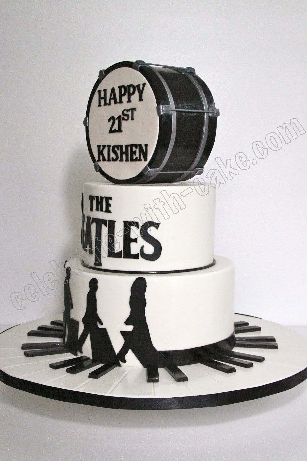 The Beatles Tier Cake