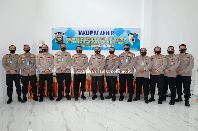 Polda Jambi Gelar Taklimat Akhir Wasrik Itwasum Polri tahap II TA 2020