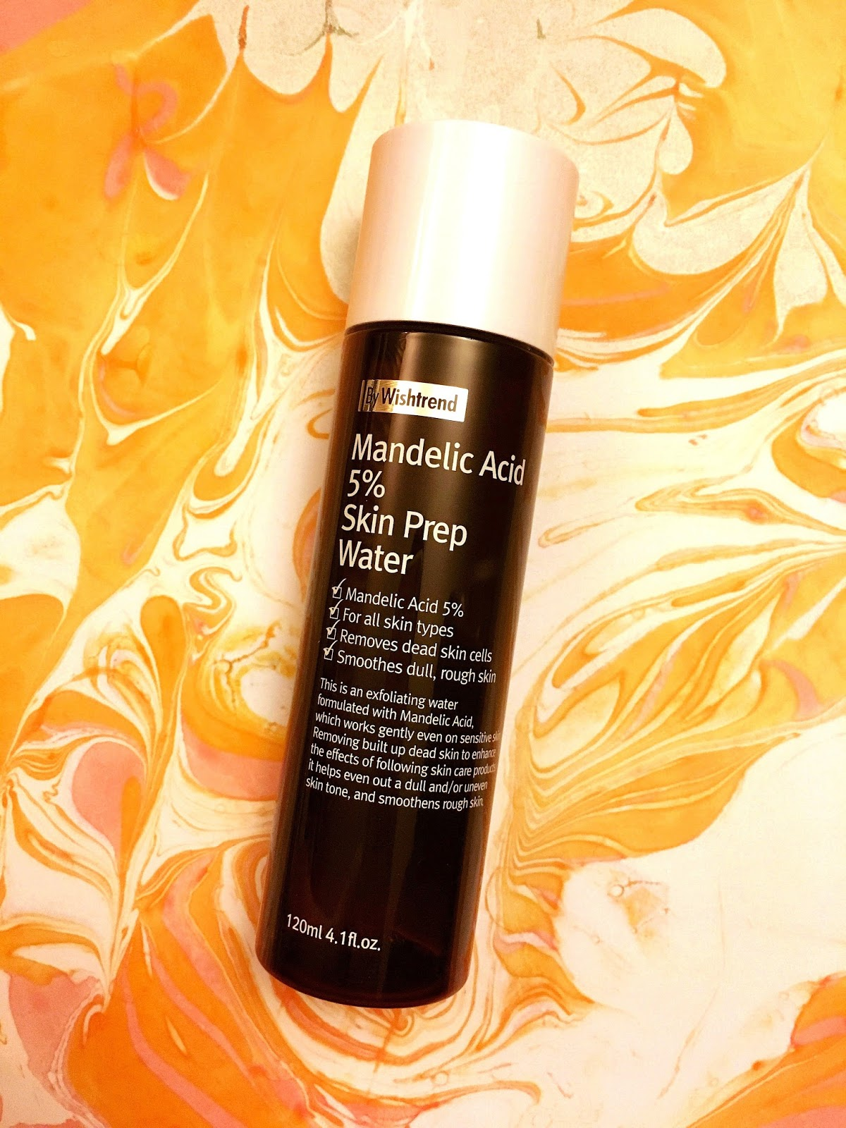All About AHAs - Mandelic Acid 5% Skin Prep Water by Wishtrend