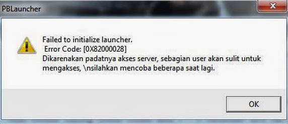 Failed to initialize launcher