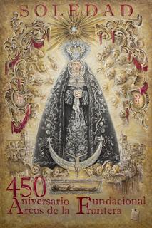 Así es el cartel, el logo y la orla conmemorativa del 450 Aniversario Fundacional de la Soledad de Arcos de la Frontera