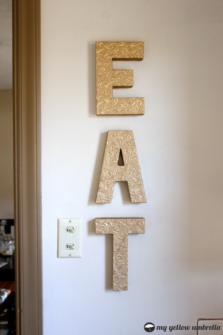 How to faux metal wall letters alina sewing design co for Wall letter designs