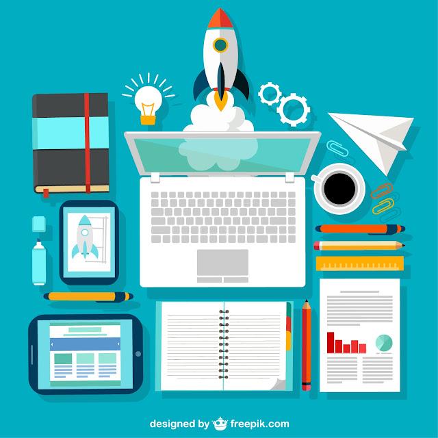 http://www.freepik.com/free-vector/startup-desk_769612.htm