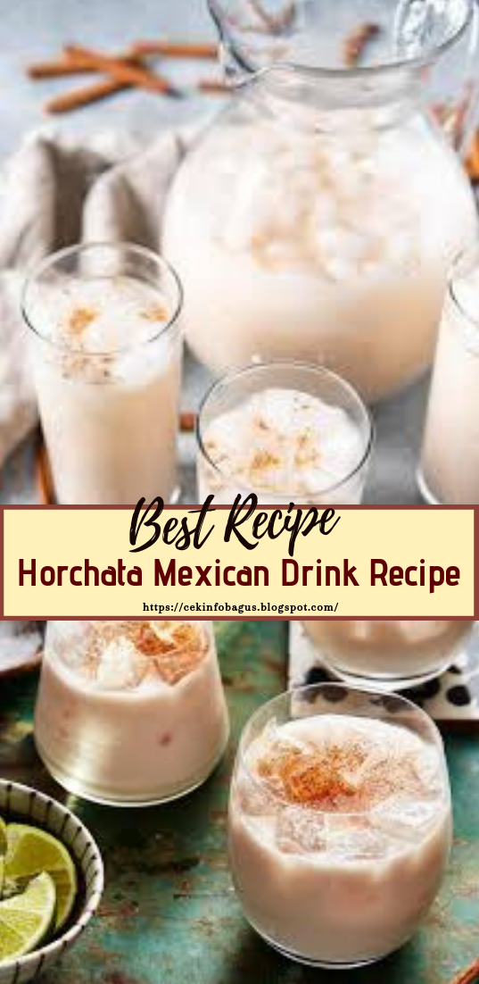 Horchata Mexican Drink Recipe  #healthydrink #easyrecipe #cocktail #smoothie