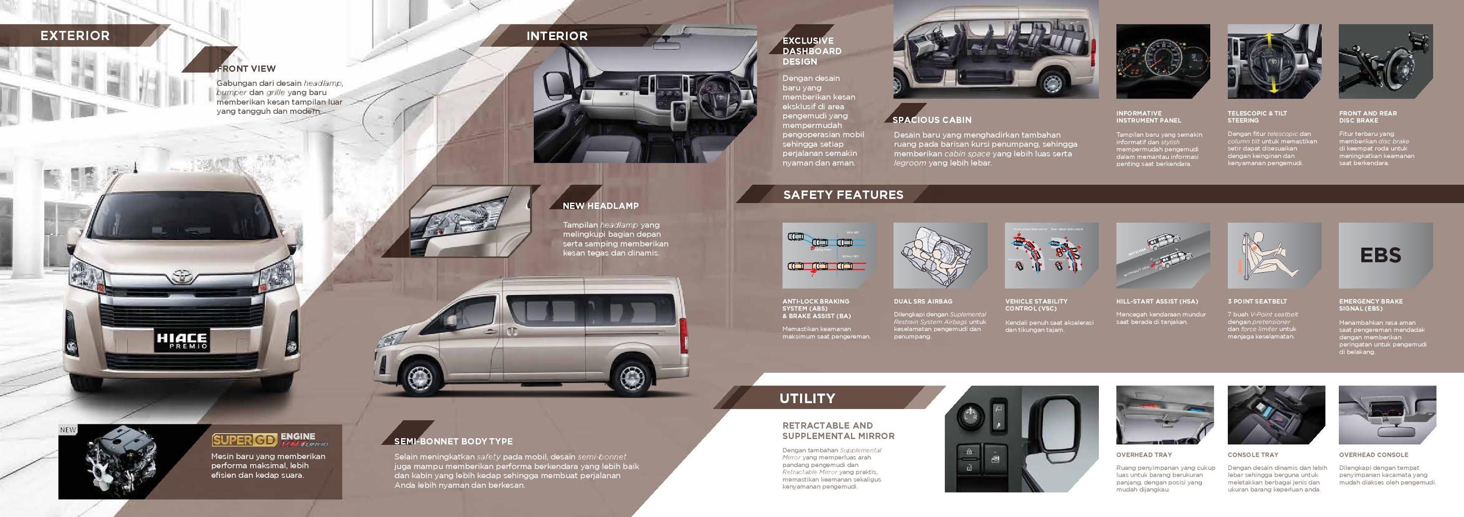 Brosur Toyota Hiace Premio