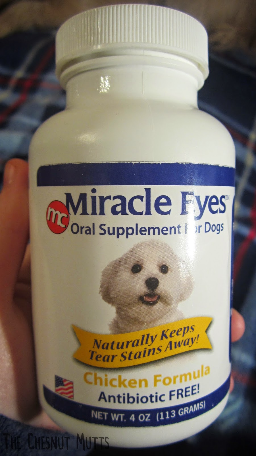 Miracle Eyes oral Supplement for dogs Chicken formula antibiotic free