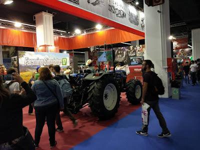 Tenían un tractor con el que probar Farming Simulator 2017
