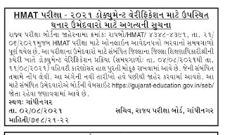 Head Master Aptitude Test (HMAT) Exam  Notification 2021 ,HMAT Exam 2021 Notification