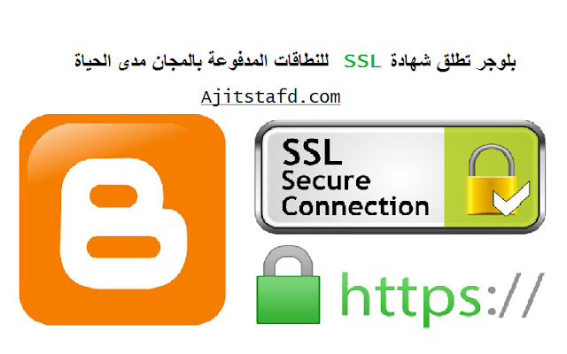 بلوجر تطلق شهادة SSL للنطاقات المدفوعة بالمجان مدى الحياة .